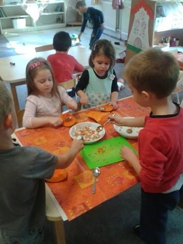 Sütőtök sütés, játék - Örömhír Óvoda Veszprém